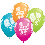 "11"" Bubble Guppies Birthday Latex balloons x 25"
